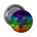 Rainbow Oddity Pinback Button