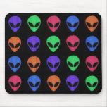 Rainbow of Aliens Mouse Pad