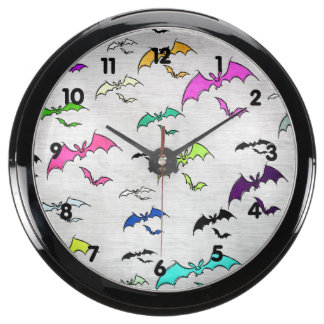 Rainbow Of Bats Aquavista Clocks