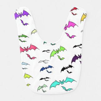 Rainbow Of Bats Baby Bib