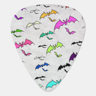 Rainbow Of Bats Guitar Pick
