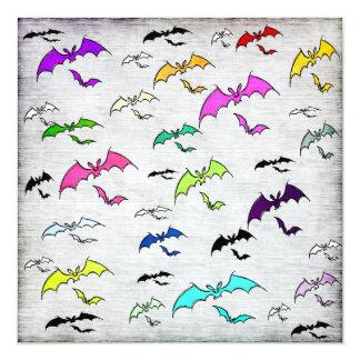 Rainbow Of Bats Invitation