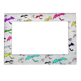 Rainbow Of Bats Photo Frame Magnet