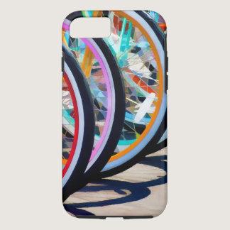 Rainbow of bicycles iPhone 8/7 case