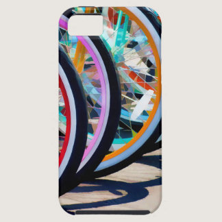 Rainbow of bicycles iPhone SE/5/5s case