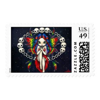 """""""Rainbow of Bones"""" Stamp"""