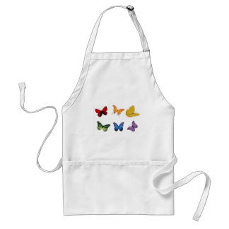 Rainbow of Butterflies Adult Apron