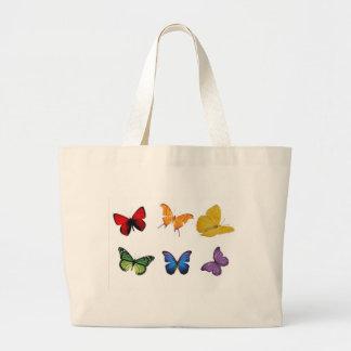 Rainbow of Butterflies Canvas Bags