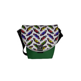 Rainbow of Butterflies Messenger Bag