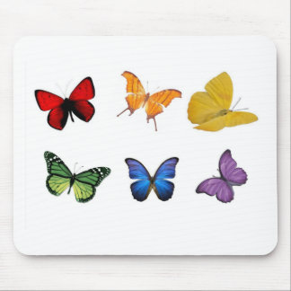 Rainbow of Butterflies Mouse Pad
