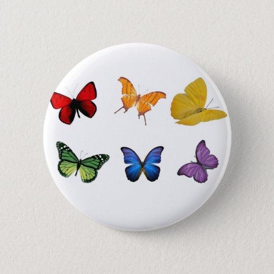 Rainbow of Butterflies Pinback Button