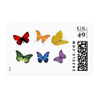 Rainbow of Butterflies Postage Stamp