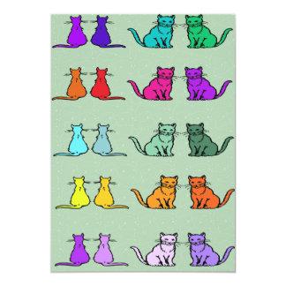 Rainbow Of Cats Card
