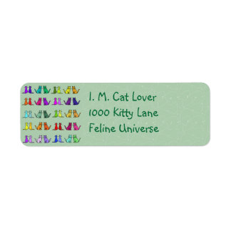 Rainbow Of Cats Label