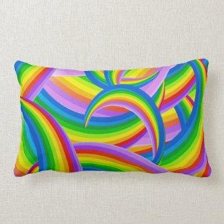 Rainbow of Color Lumbar Pillow