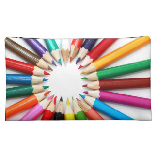 Rainbow of Colored Pencil Points 2 Cosmetic Bags