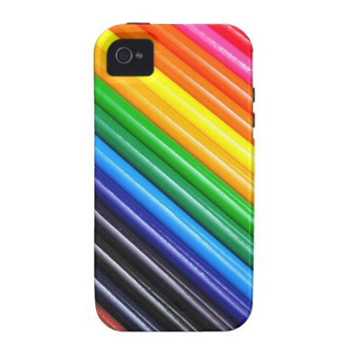 Rainbow Of Colored Pencils Case-Mate iPhone 4 Cover