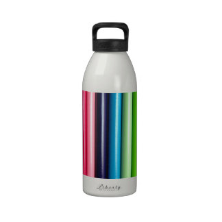 Rainbow of Colored Pencils Drinking Bottle