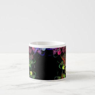 Rainbow of Colors Fractal Art Espresso Cup