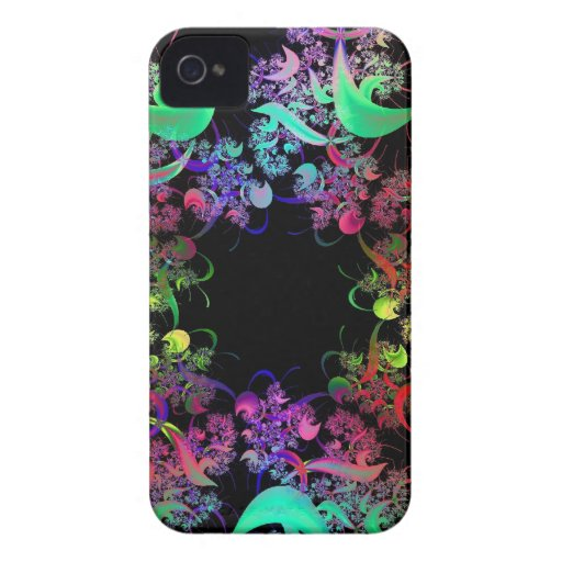 Rainbow of Colors Fractal Art iPhone 4 Covers