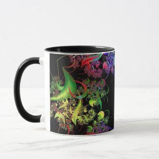 Rainbow of Colors Fractal Art Mug
