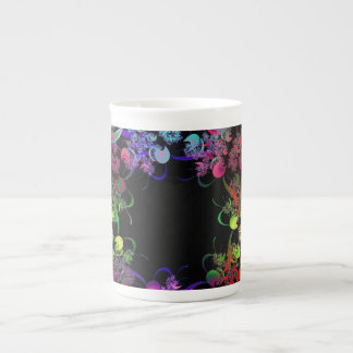 Rainbow of Colors Fractal Art Tea Cup