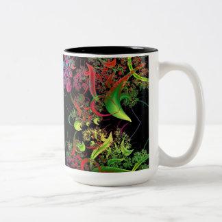 Rainbow of Colors Fractal Art Two-Tone Coffee Mug