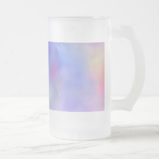 Rainbow of Colors Frosted Glass Beer Mug