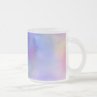Rainbow of Colors Frosted Glass Coffee Mug
