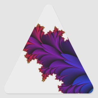 Rainbow of Colors in this Fractal Flower Triangle Sticker