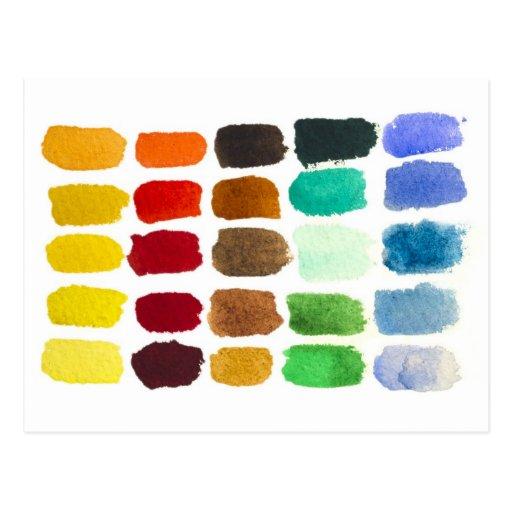 rainbow of colors postcard