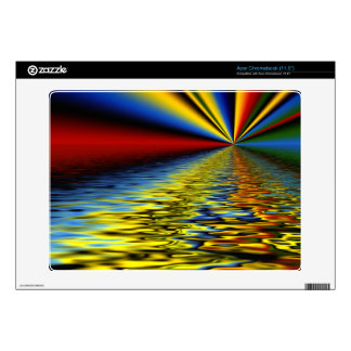 Rainbow of Colors Reflected Over Rippling Water Acer Chromebook Decal