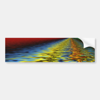 Rainbow of Colors Reflected Over Rippling Water Bumper Sticker