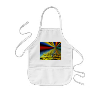 Rainbow of Colors Reflected Over Rippling Water Kids' Apron