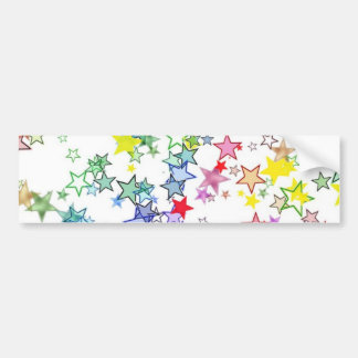 Rainbow of Colors Stars Bumper Stickers