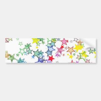 Rainbow of Colors Stars Bumper Sticker