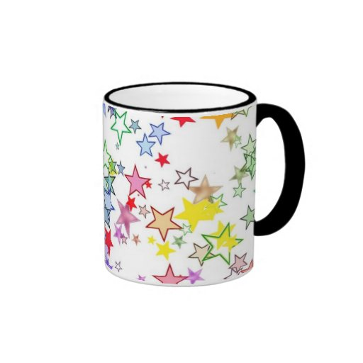 Rainbow of Colors Stars Coffee Mugs
