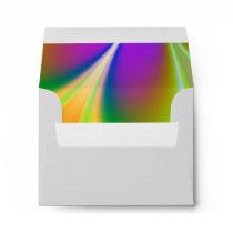 Rainbow of Colors Wedding Envelope