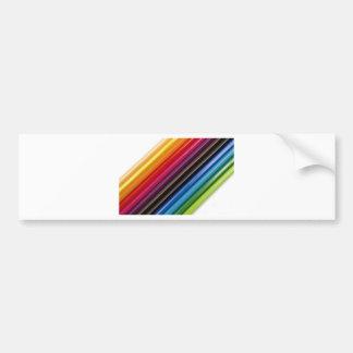 Rainbow of coloured pencils bumper sticker