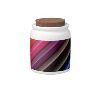 Rainbow of coloured pencils candy dish