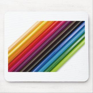 Rainbow of coloured pencils mousepads