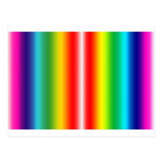 Rainbow of colours postcard