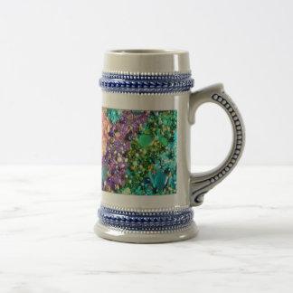 Rainbow of Craft Beads Beer Stein