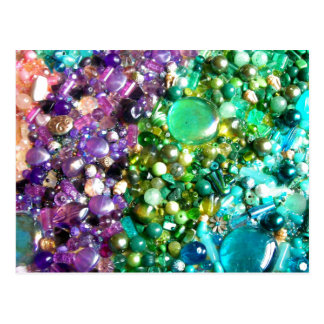 Rainbow of Craft Beads Postcard