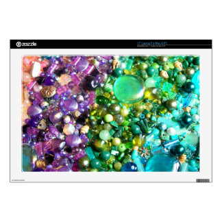Rainbow of Craft Beads Decals For Laptops