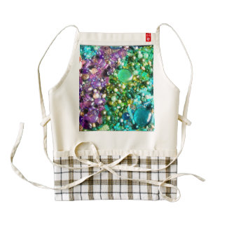 Rainbow of Craft Beads Zazzle HEART Apron