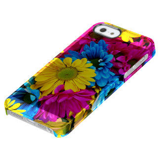 Rainbow of Daisies Clear iPhone SE/5/5s Case