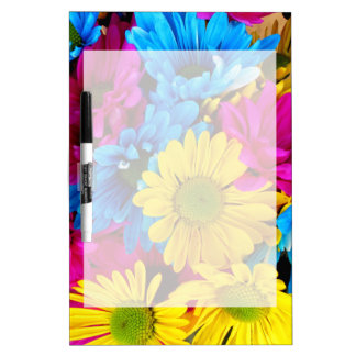 Rainbow of Daisies Dry Erase Whiteboards