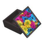 Rainbow of Daisies Premium Jewelry Box
