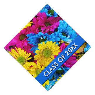 Rainbow of Daisies Graduation Cap Topper